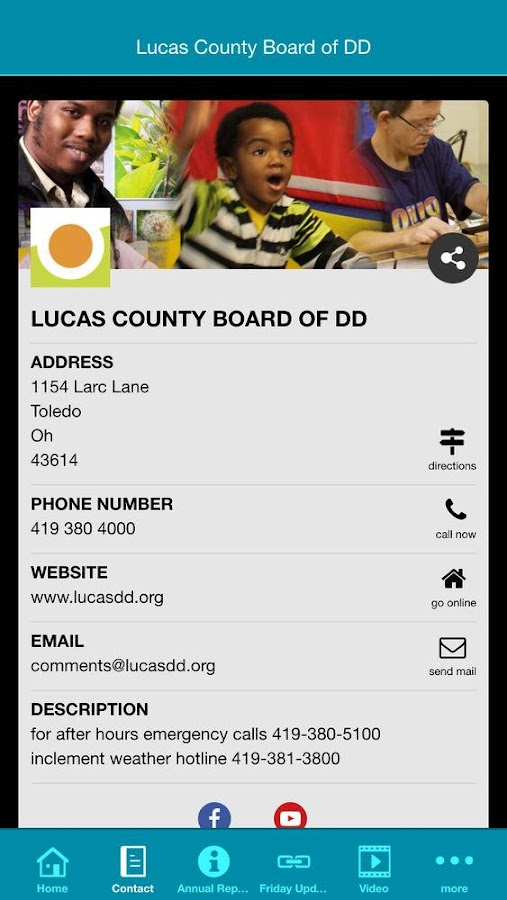 Lucas County Board of DD- screenshot