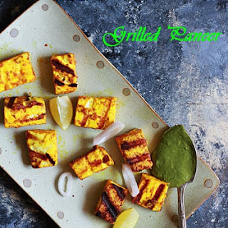 Grilled Paneer Recipe (Easy Stove Top Method) Recipe