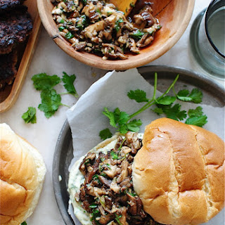 Asian Beef Burgers with a Shiitake Sauté