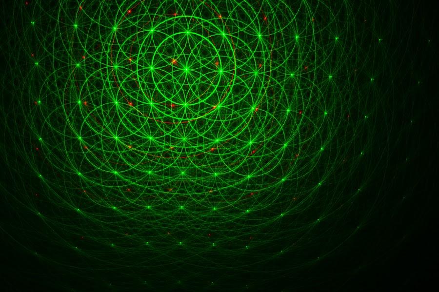 Green Lazer by Kevin Sullivan - Abstract Fine Art ( lazer, laser )