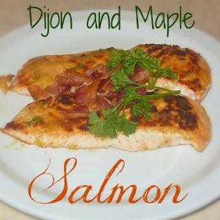 Maple Syrup and Dijon Mustard Baked Salmon