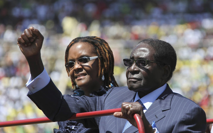 Former Zimbabwean President Robert Mugabe and his wife, Grace. Picture: REUTERS