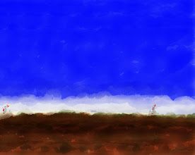 "Photo: ""Blue Sky (descending) 7.1.14 digital 8x10"