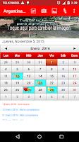Screenshot of Argentina Calendario 2015
