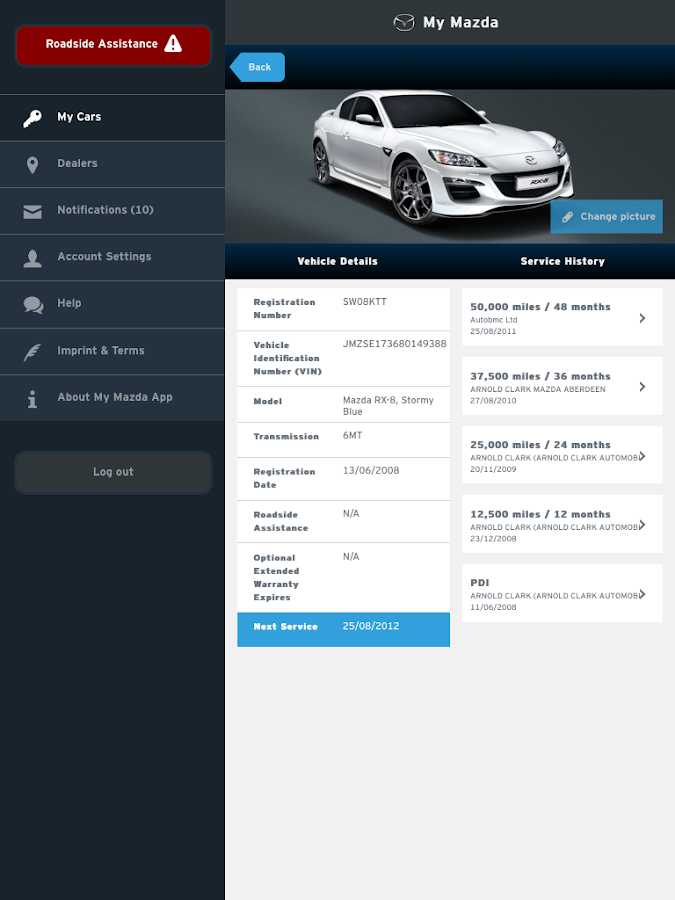 My Mazda- screenshot