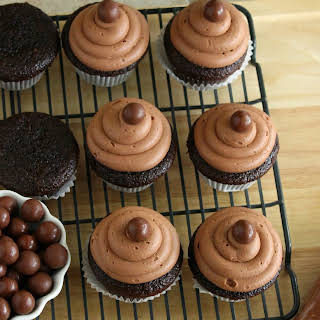 Malted Milk Ball Cupcakes.