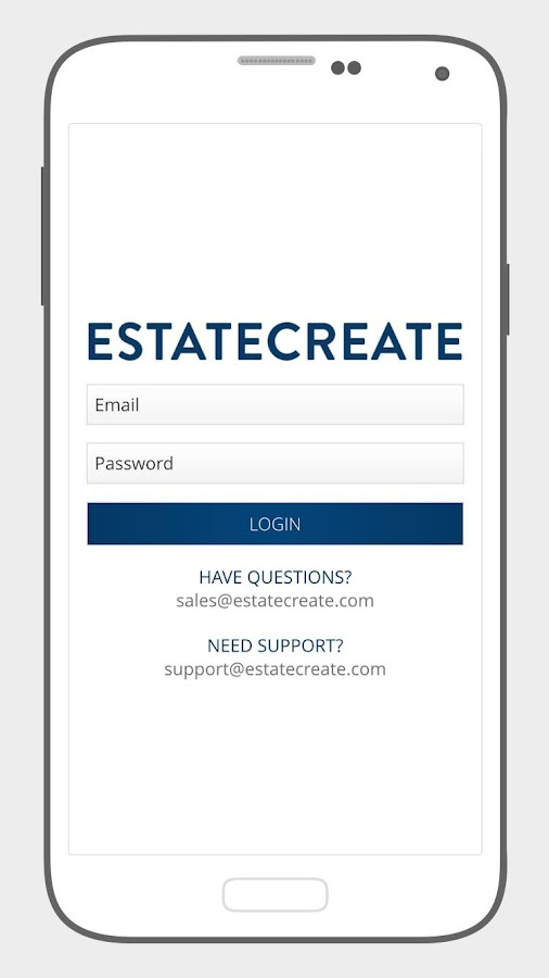Estatecreate- screenshot