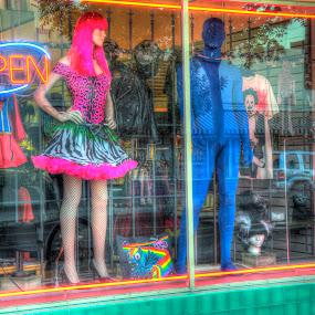 by Eleazar Valdez - City,  Street & Park  Markets & Shops ( #cancer, #towerdistrict, #art, #pink, #wall, #girl, #contest )