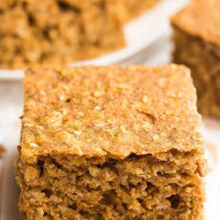 Healthy Pumpkin Oatmeal Snack Cake.