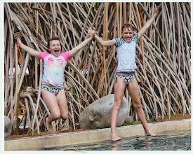 Photo: Girls in a photo shoot by the pool with the Westin Playa Conchal photographer