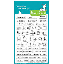Lawn Fawn Clear Stamps 4X6 - Plan On It: Appointments