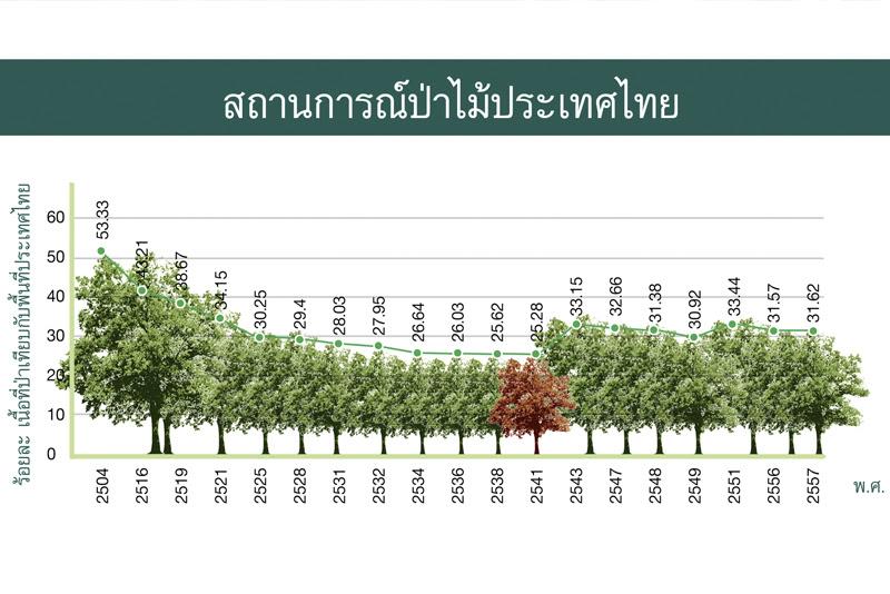 สถานการณ์ป่าไม้ไทย