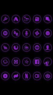 Purple On Black Icons By Arjun Arora - náhled