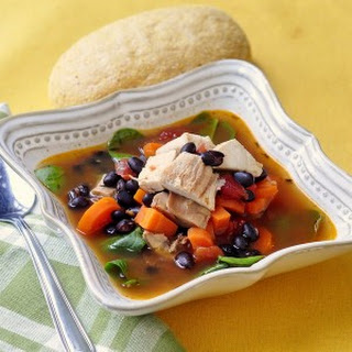 Barbecue Chicken and Black Bean Soup