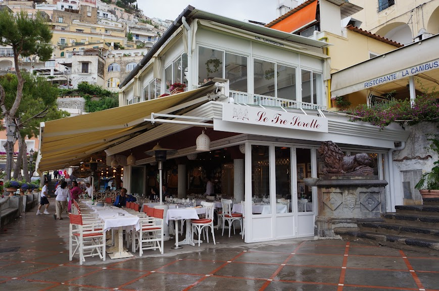 Restaurant near the Positano beach (2015)