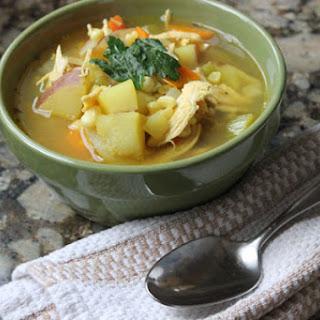 Saffron Chicken Veggie Soup
