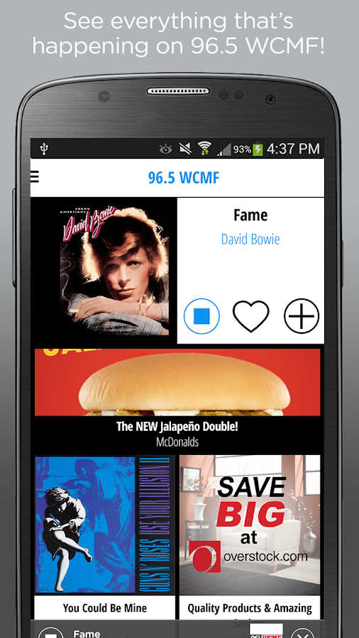 96.5 WCMF – Classic Rock- screenshot