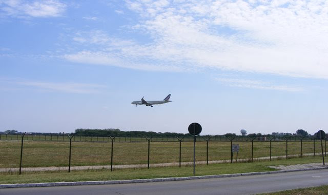 PLANE LANDING ON BUCHAREST INTERNATIONAL AIRPORT
