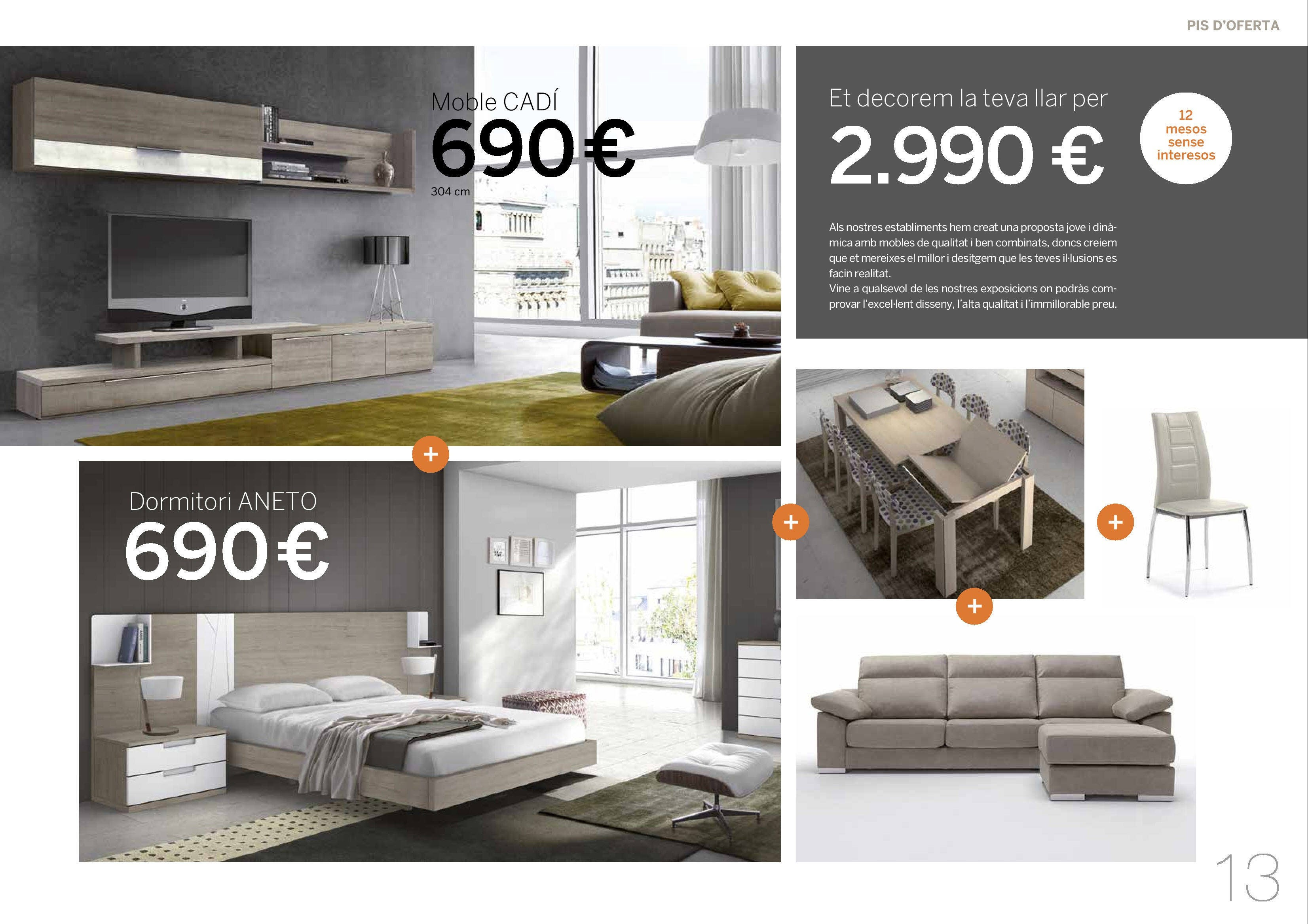 Photo: OFERTA PISO COMPLETO 2990€: COMEDOR+MESA+4SILLAS+SOFA CHAISELONGUE+CAMA 150 Y 2 MESITAS