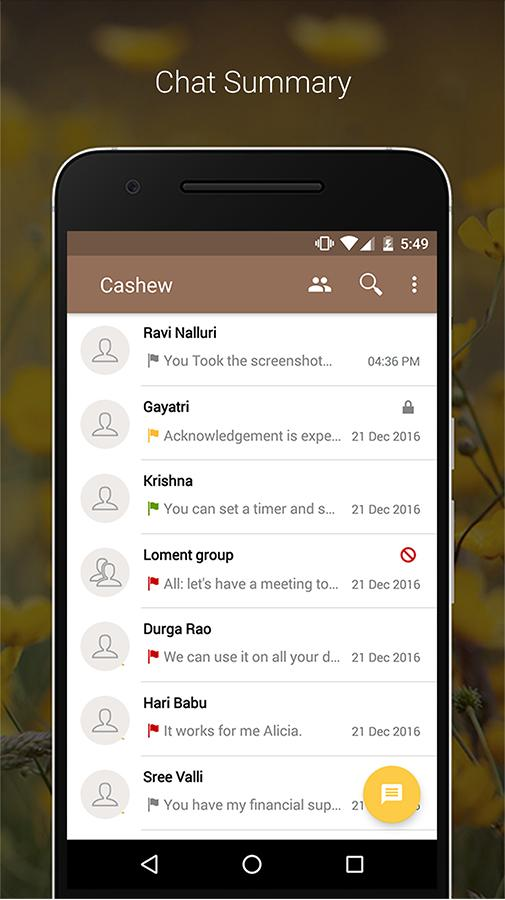Cashew Secure Messenger- screenshot