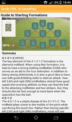 android Leitfaden FIFA 16 GamePlay Screenshot 3
