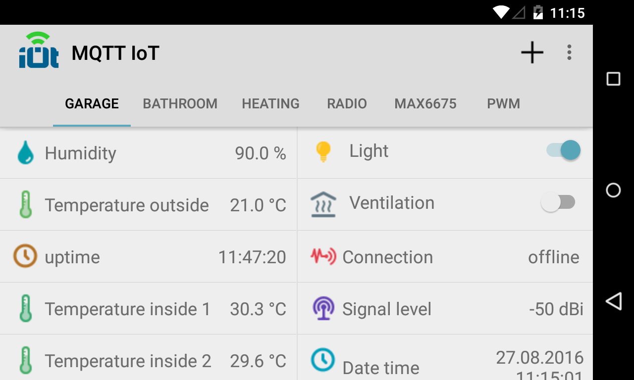 Mqtt IoT- screenshot