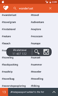 Letstag - Instagram hashtags- screenshot thumbnail
