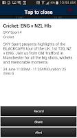 Screenshot of SKY TV NZ