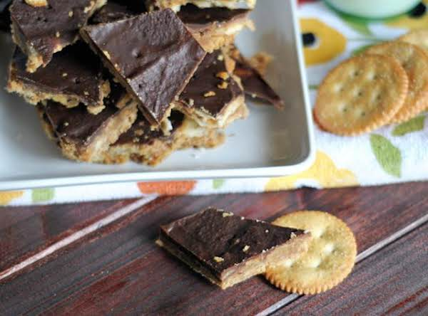 Peanut Butter, Chocolate And The Buttery Taste Of Ritz Crackers