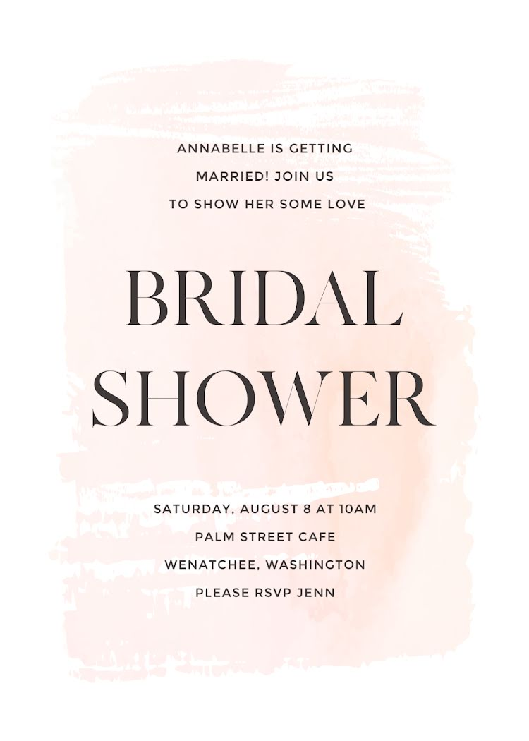 Annabelle's Bridal Shower - Bridal Shower Template