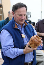 Photo: Stan Wellborn brought a pine burl vase.