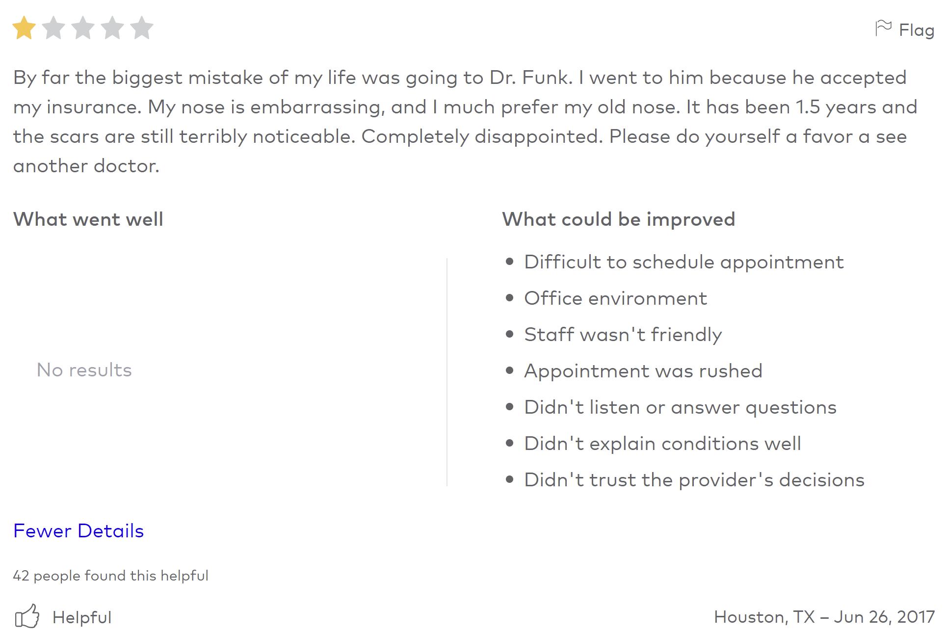 Funk Facial Plastic Surgery review