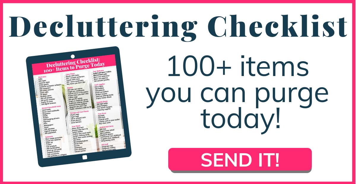 Send Decluttering Checklist!