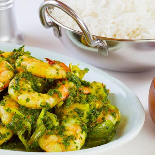 Prawns with Spinach