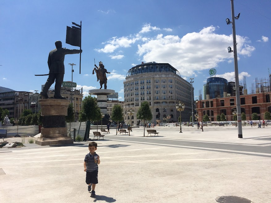 Skopje main square