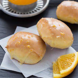 Baked Brown Butter Beignets with Orange Brown Butter Glaze