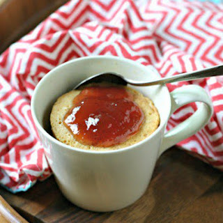 Grain Free Peanut Butter and Jelly Mug Cake