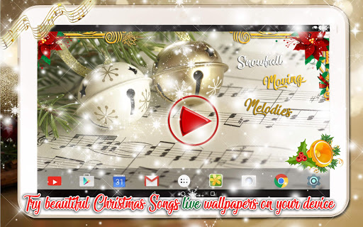 Christmas Songs Live Wallpaper with Music ud83cudfb6 2.8 screenshots 10