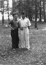 Photo: Мирон Зильберман и Виктор Некрасов, 1946-1947