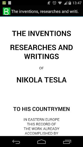 The inventions of Nikola Tesla