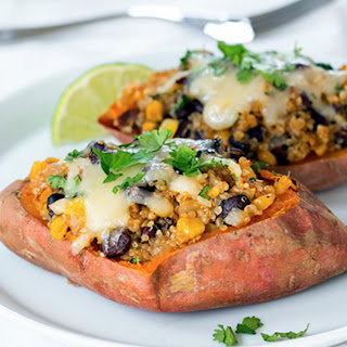 Honey-Lime Quinoa Stuffed Sweet Potatoes Serves 8