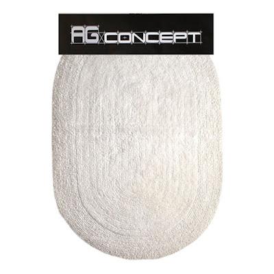 Коврик для ванны AG concept белый овал 50х80 см
