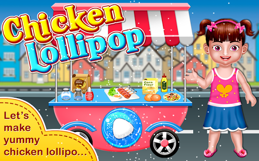 Chicken Lollipop-Cooking Maker  Street Food screenshot 1