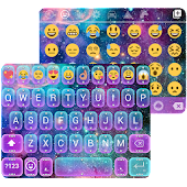 Galaxy Glitter Keyboard Theme