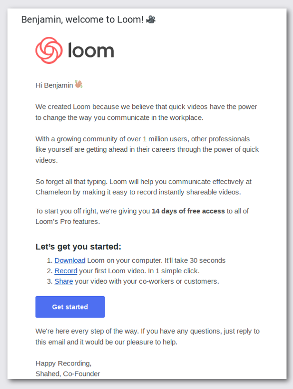 welcome to loom