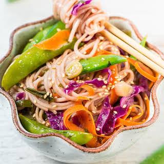 15-Minute Skinny Vegetable Soba Noodles.