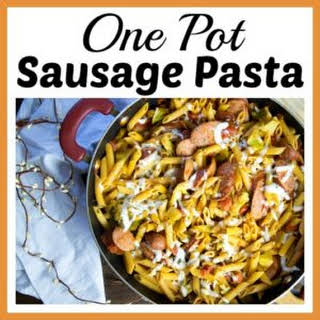 One Pot Sausage Pasta.
