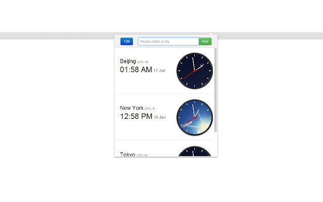 Awesome Clock chrome extension