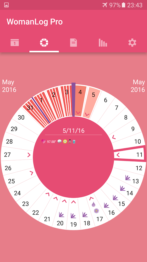 WomanLog Pro Calendar- screenshot