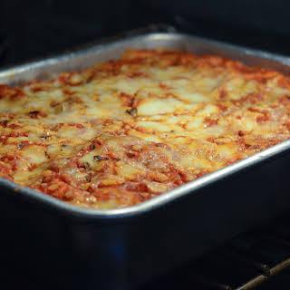 Homemade Frozen Lasagna.